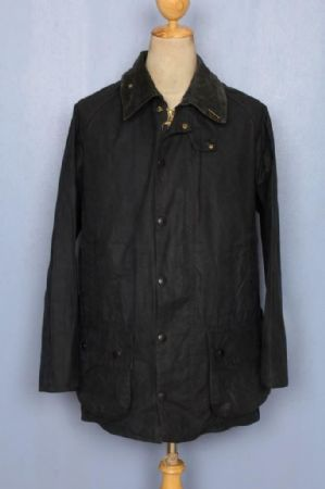 BARBOUR Beaufort Waxed Jacket Navy Size 36 Small